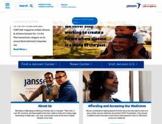 janssenpharmaceutica.be screenshot