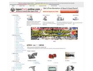 japanpartsonline.com screenshot