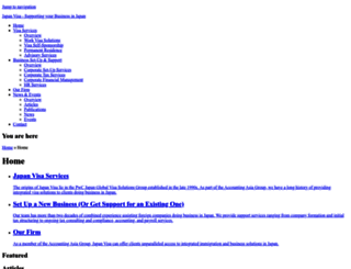 japanvisa.com screenshot