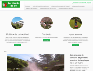 jardineriaarce.es screenshot