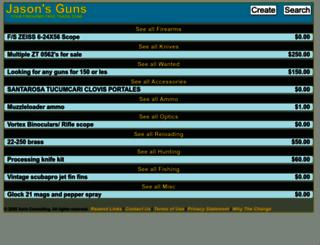 jasonsguns.com screenshot