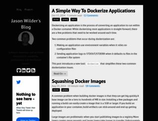 jasonwilder.com screenshot