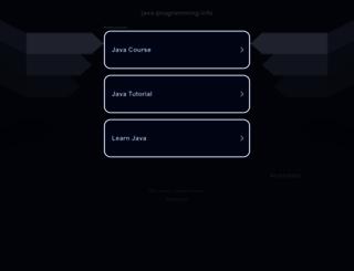 java-programming.info screenshot
