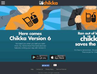java.chikka.com screenshot