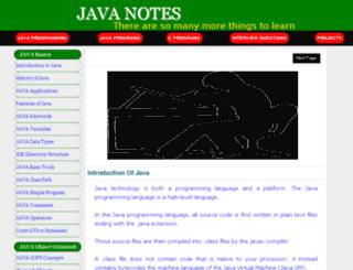 javanotes.co.in screenshot