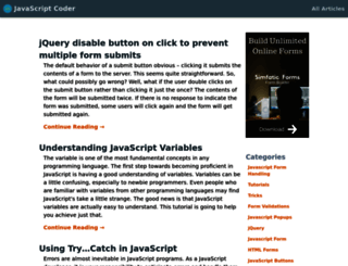 javascript-coder.com screenshot