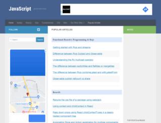 javascript.tutorialhorizon.com screenshot