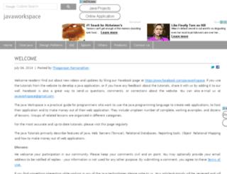 javaworkspace.com screenshot