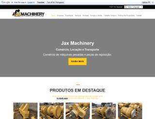 jaxmachinery.com screenshot