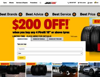 jaxtyres.com.au screenshot