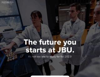 jbu.edu screenshot