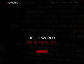 jbwebdev.com screenshot