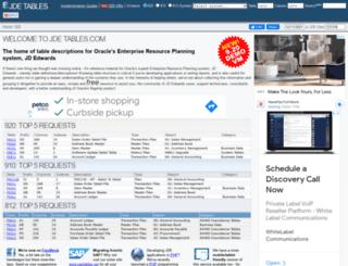 jdetables.com screenshot