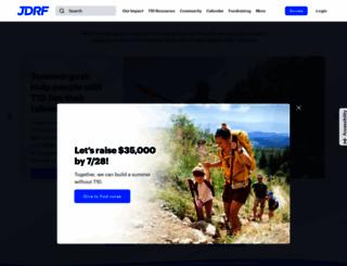 jdrf.org screenshot