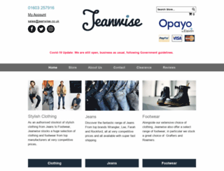 jeanwise.co.uk screenshot
