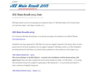 jeemainresults2015.in screenshot