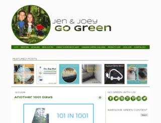 jenandjoeygogreen.com screenshot