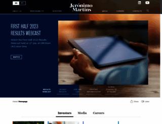 jeronimomartins.com screenshot