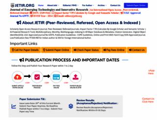 jetir.org screenshot