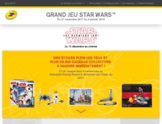 jeu-starwars.laposte.fr screenshot