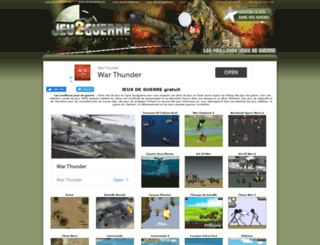 jeu2guerre.com screenshot