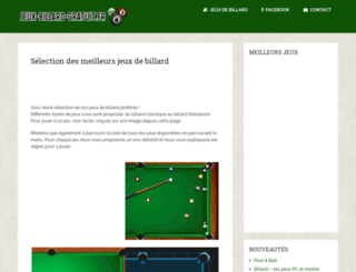 jeux-billard-gratuit.fr screenshot