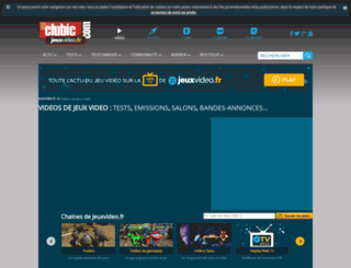 jeuxvideo.tv screenshot