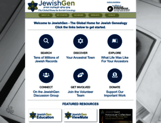 jewishgen.org screenshot