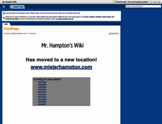 jhampton.pbworks.com screenshot