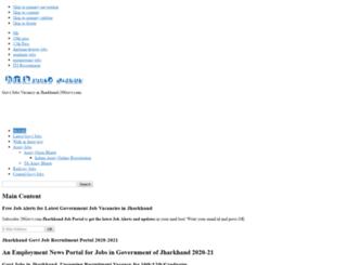 jharkhand.20govt.com screenshot