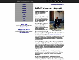 jiddu-krishnamurti.net screenshot