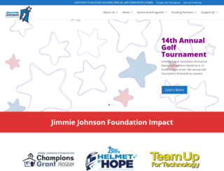 jimmiejohnsonfoundation.org screenshot