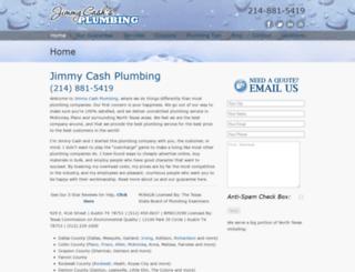 jimmycashplumbing.com screenshot