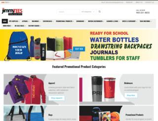 jimmyteespromotionalproducts.com screenshot
