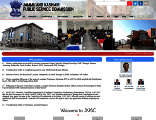 jkpsc.nic.in screenshot