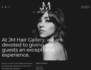 jmhairgallery.com screenshot