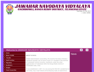 jnvrangareddy.gov.in screenshot