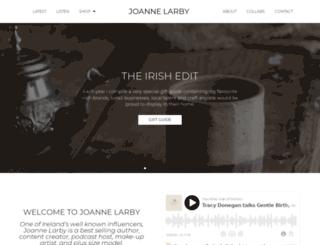 joannelarby.com screenshot