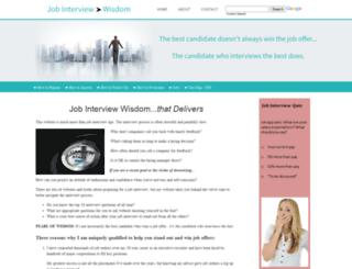 job-interview-wisdom.com screenshot