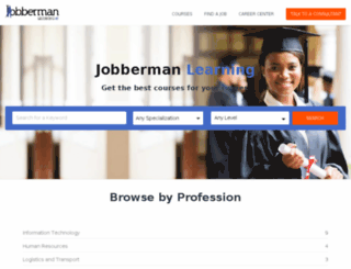 jobbermanlearning.com screenshot