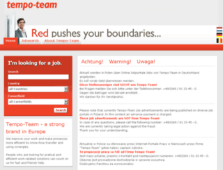 jobboerse.tempo-team.com screenshot