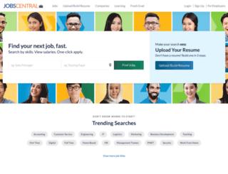 jobcentral.com.sg screenshot