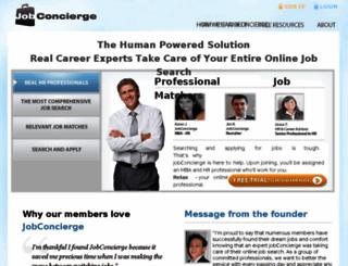 jobconcierge.com screenshot