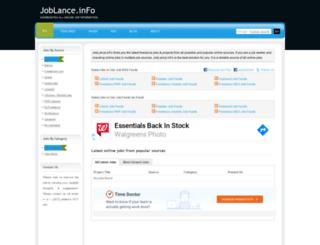 joblance.info screenshot