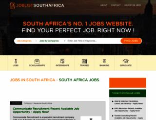 joblistsouthafrica.com screenshot