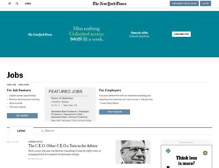 jobmarket.nytimes.com screenshot