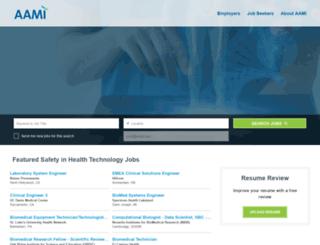 jobs.aami.org screenshot