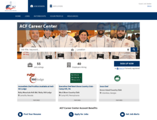 jobs.acfchefs.org screenshot