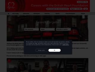 jobs.bhf.org.uk screenshot