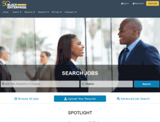 jobs.blackenterprise.com screenshot
